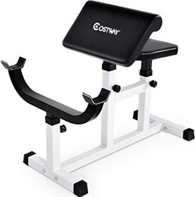 GOPLUS Preacher Curl Weight Bench