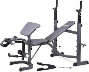 Body Champ Olympic Weight Bench with Preacher Curl