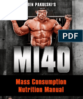 40-Day Mass Consumption Nutrition Manual PDF