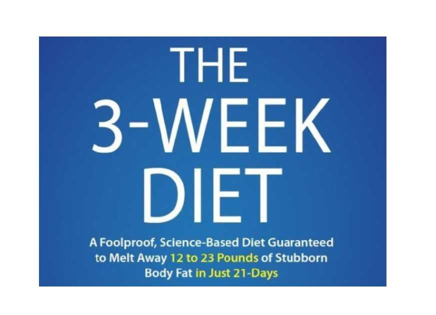 The 3 Week Diet Review 2021