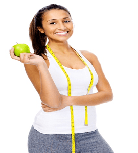 skinnyjane-28-day-weight-loss-challenge-fitness-woman-holding-nutritious-apple-weight-loss